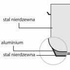 Garnek wysoki d 240 mm 9 l z pokrywką