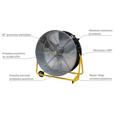 Wentylator (cyrkulator) Master DF 30 P